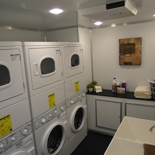 laundry in trailer